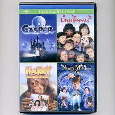 4 PG family movies, new DVDs Casper Little Rascals Harry Hendersons Nanny McPhee