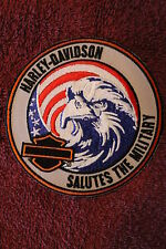 """HARLEY """"SALUTES THE MILITARY"""" EAGLE PATCH - HOG Soldier USA Flag 2013"""