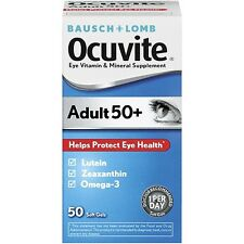 Ocuvite Eye Vitamin & Mineral Supp For Adults 50 & Over Soft Gels 50 ct