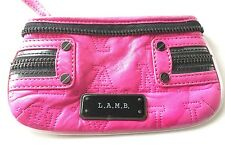 L.A.M.B. Hot Pink Leather Wristlet by Gwen Stefani LAMB