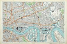 LONDON, 1912 - THE CITY, EAST END, AND DOCKLANDS. - Original Antique Map, Bacon.