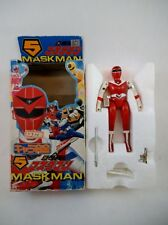 RARE! 1987 Bandai Japan Sentai Maskman Red Mask NMIB Pre MMPR Power Rangers
