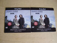 BRITISH CLASSICS - CHARLOTTE BRONTE'S JANE EYRE - PARTS 1 & 2 - MAIL PROMO DVDS