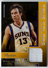 STEVE NASH 2012-13 PANINI PRESTIGE TRUE COLORS GAME USED JERSEY