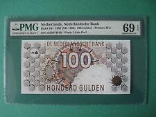 1992 NETHELANDS 100GULDEN  PMG 69 EPQ  SUPERB GEM UNC