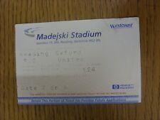 28/10/2000 BIGLIETTO: lettura V Oxford United (Piegati). grazie per la visualizzazione è il nostro