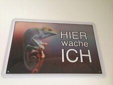 Caméléon Lion de terre Iguane Hier wache ich Plaque d'avertissement pour animaux