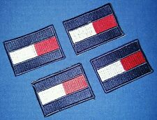 4pcs TOMMY HILFIGER TH85 Logo Embroidered Sew on Patch Label Lable + FREE SHIP
