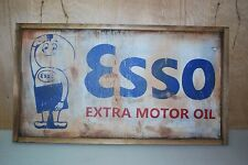 ANTIQUE STYLE ESSO GAS OIL TRADE SIGN