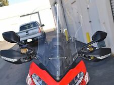 """DUCATI MULTISTRADA 1200  2013-2014 19"""" TALL, CLEAR REPLACEMENT WINDSHIELD"""