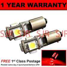 BA9s T4W 233 CANBUS ERROR FREE RED 5 LED SIDELIGHT SIDE LIGHT BULBS X2 SL101402