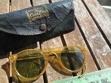 Vintage AO American Optical Cool-Ray Sunglasses with Case Steampunk