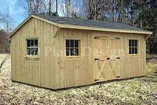 10' x 16' Saltbox Roof Style Storage Shed Plans, #71016