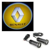 2 x Cree LED Car Door Logo Welcome Projector Light Kit 12v - Renault Megane