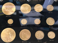 US GOLD 12 COIN TYPE SET IN CAPITAL HOLDER NICE TAKE A LOOK $81 FACE VALUE GOLD