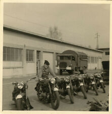 PHOTO ANCIENNE - VINTAGE SNAPSHOT - MILITAIRE MOTO CAMION - MILITARY MOTORBIKE