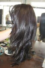 Raquel Welch Sheer Indulgence Midnight Brown Long Layered Lace Front Wig NEW