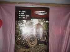"""Bad Boy Buggies: Promotional Trade Show Display Sign """"Born and Bred to be Bad"""""""
