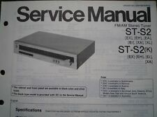 TECHNICS ST-S2 ST-S2K Stereo Tuner Service manual wiring parts diagram