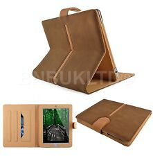 luxury 360 Rotating TAN Smart suede Leather Case Cover for apple ipad 5 AIR