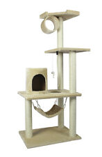 "New BestPet Beige 62"" Cat Tree Condo Furniture Scratch Post Pet House 5002"