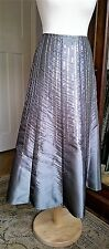 Per Una evening skirt size 10 calf length pewter silver grey with sequins BNWT