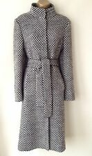 COAST COAT SIZE 12 BLACK WHITE CHECKED WOOL WARM