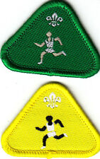 Boy Scout Badges CUB ATHLETE Proficiency green+yellow