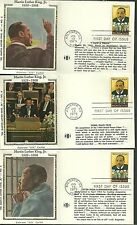 6 Different colorano silk cachet first day covers martin luther king jr 1979 fdc