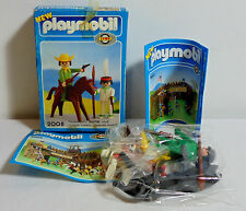 LYRA GREEK PLAYMOBIL VTG 1978 # 2008 INDIAN AND MOUNTED COWBOY BOXED SEALED TOYS