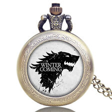 Game of Thrones Pocket Watch Women Men Xmas Gift House Stark Winter is Coming