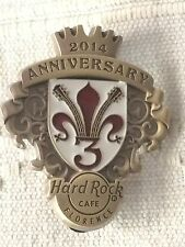 Hard Rock Cafe Florence 3rd Anniversary Pin LE 300