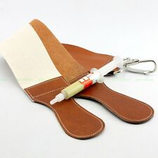 Genuine Leather Canvas Sharpening Sharpener Straight Razor Shave Shaving Strap
