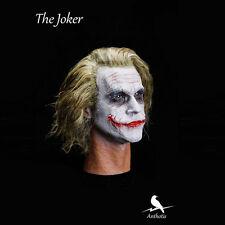1/6 Batman Joker Hair transplant Headplay Heath Ledger Head Sculpt master level