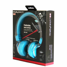 blue Over head headphones earphones  foldable dj  for kids children boys girls