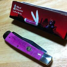 Frost Steel Warrior Smooth Purple Bone Trapper Pocket Knife FSW108PSB