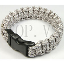 550 Paracord Military Camping Hiking Hunting Survival Bracelet Parachute Cord #4