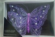 Brand New Landon Tyler Large Purple Handcrafted 2 Butterfly Clips