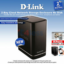 D-Link ShareCenter 2 Bay Cloud Network Storage Enclosure DNS-320L NAS Server OGB