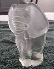 Glass Elephant Bookend Paper Weight Viking