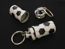 """High Quality Metal Waterproof Smell Proof Pill Holder Stash Container """"Soccer"""""""