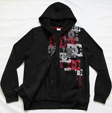 DC SHOES MENS LOGO HOODED SHERPA SWEATSHIRT JACKET SNOWBOARD SKI SNOW HOODIE L