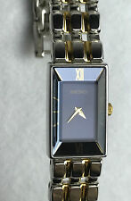 Women's Seiko Two-Tone Gold + Stainless Watch with Gorgeous Blue Face - New!!