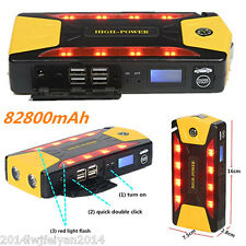 82800mAh 4USB Emergency Light Multi-Function Car Jump Starter Power Bank Battery