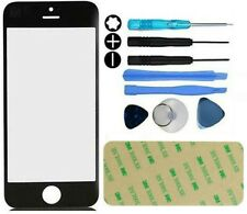 Front Outer Screen Glass Replacement Repair Kit For iphone 5 5S 5C Tool Black