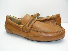 Men's Sperry Top-Sider Navigator Penny Tan Leather Driving Boat Shoe Size 7