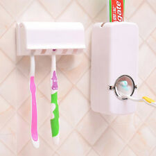 NEW Press2paste Auto Toothpaste Dispenser and Toothbrush Holder Family Bathroom