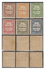 TRANSJORDAN stamps 1929 POSTAGE DUE  SG. D189/94 set of 6 MH -F292