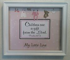 "Bible Verse Plaque Christian""CHILDREN ARE A GIFT FROM THE LORD""For-It's A Girls"
