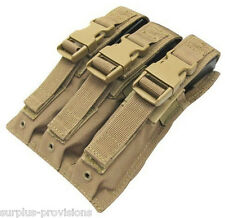 Condor MA37 Triple MP5/UZI Mag Pouch Tan - Tactical Molle Magazine pouch
